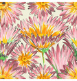 Retro floral seamless pattern watercolor pink vector image