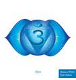 rhird eye chakra ajna glowing chakra icon vector image