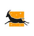 running deer animal logo vector image
