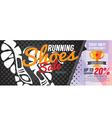Running Shoes Sale 6250x2500 pixel Banner vector image