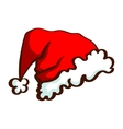 Santas Hat Isolated On White vector image vector image