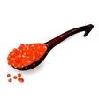 Saviarspoon caviar vector image
