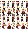 seamless pattern of children dressed up vector image