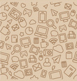 Seamless Pattern with Outline Office Icons vector image