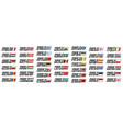 set european countries flags vector image vector image