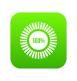sign 100 download icon digital green vector image vector image
