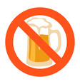 sign no beer flat vector image