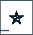 starfish icon simple vector image vector image