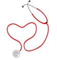 Stethoscope form the Shape Of Heart vector image