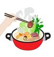Sukiyaki vector image vector image