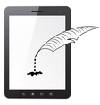 Tablet PC computer vector image vector image