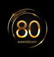 template 80 years anniversary vector image vector image