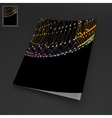 Textbook Booklet Notebook Mockup 3D Grid vector image