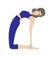 the girl practicing yoga vector image vector image