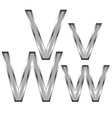 thin diamond metal letters on white 11 vector image vector image