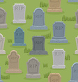 Tomb seamless pattern Old gravestone ornament vector image