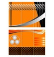 Tri-fold technology Style Brochure Layout Design vector image vector image