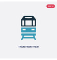 two color train front view icon from transport vector image