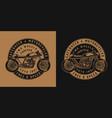 vintage motorcycle round emblem vector image vector image