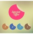 Vintage sale discount Special offer label on vector image