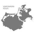 vorpommern-ruegen grey county map mecklenburg vector image