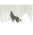 Wolf howls in winter woods vector | Price: 1 Credit (USD $1)
