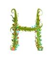 Alphabet letter H elegant flower blooming vector image