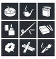 Smoking Icon set vector image