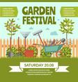 garden festival colorful poster vector image