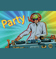 dj boy party mix music vector image