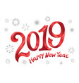2019 happy new year tape red number on white vector image