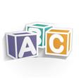 abc icon paper vector image vector image