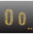 alphabet gold letter o on transparent background vector image