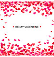 amour valentines day greeting card hearts frame vector image vector image