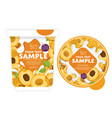 apricot yogurt packaging design template vector image vector image