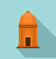 asian temple icon flat style vector image