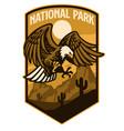 bald eagle national park style logo vector image vector image