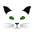 cat silhouette with green eyes vector image vector image