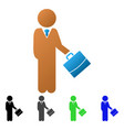 child manager flat gradient icon vector image vector image