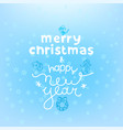 christmas card with lettering inscription logo vector image vector image