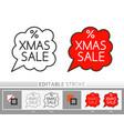 christmas sale bubble banner xmas line icon vector image vector image
