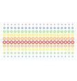 cogwheel shape halftone spectrum grid vector image vector image