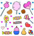 collection stock candy various doodle style vector image vector image