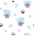 cute plants seamless pattern vector image vector image