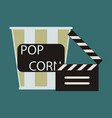 flat icon popcorn cinema vector image