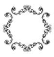 Floral label frame 7 vector image vector image