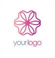 flower logo vector image