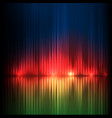 green-red-blue wide wave abstract equalizer vector image