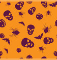 group halloween seamless pattern color vector image