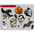 halloween character set vector image